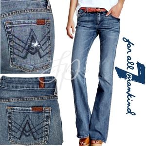 7FAM Crystal A Pocket Flare jeans 26 mid-rise